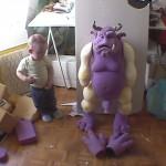Marionnette en mousse de Cyril Valade